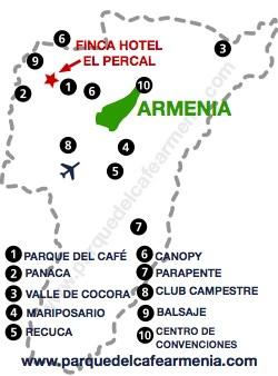 bbicacion Finca Hotel El Percal