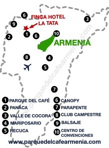 bbicacion Finca Hotel La Tata